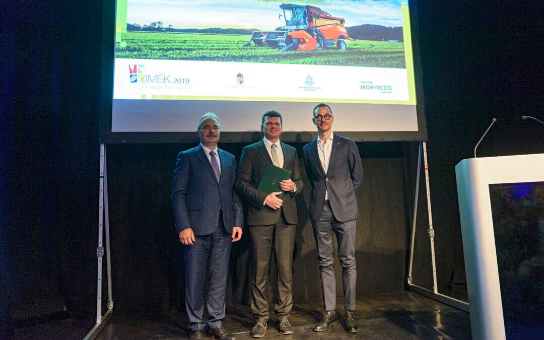 Moravszki Gábor kapta az Agrárminisztérium és a Holland Nagykövetség szaktanácsadói különdíját